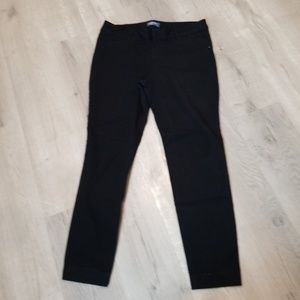 Old Navy black PIXIE mid rise pants 14